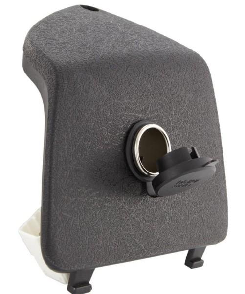 Cubierta del guantera izquierda con encendedor de cigarrillos 12V para Vespa GTS/GTS Super/GTV/GT, negro