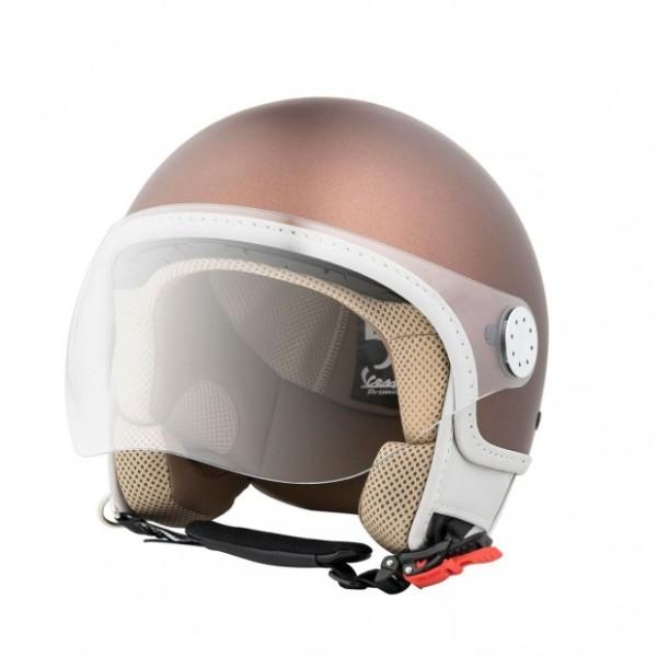 Helmet Demi Jet Vespa Visor 3.0 50th Anniversary Brown 139/A