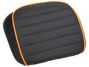 almohadilla de la espalda, negro / naranja