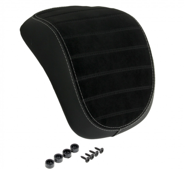 Original respaldo de la caja superior Vespa Primavera / Sprint negro con costuras blancas