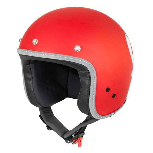 Casco Jet Vespa Colors rojo mate