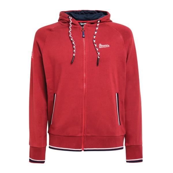 Vespa Modernist Sweatshirt hombre rojo