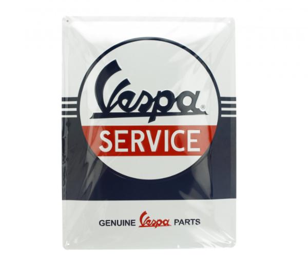 Vespa placa metálica Vespa Service, 30x40 mm