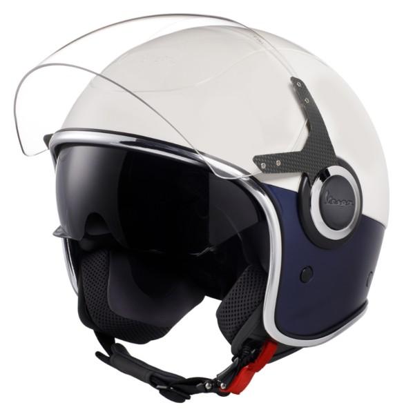 Vespa VJ Helmet blanco azul