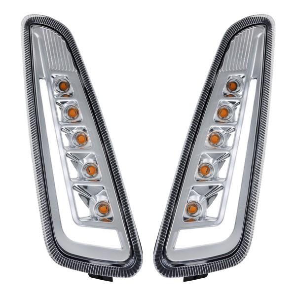 Kit de intermitentes LED delantero izquierdo / derecho transparente para Vespa Primavera / Sprint 125-150ccm SIP Style