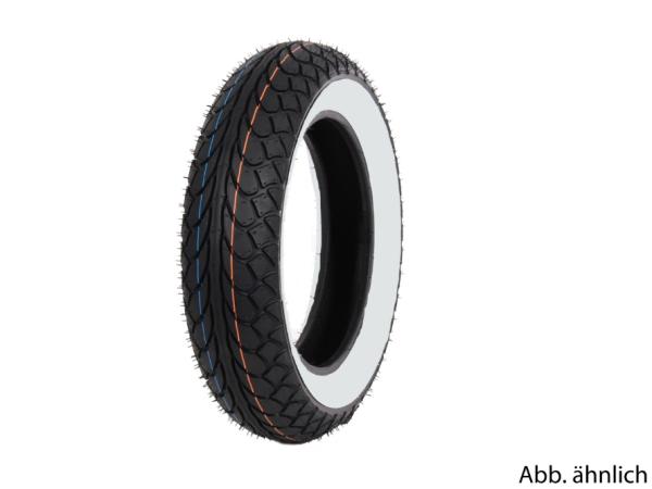Neumático Mitas 100/80-10, 53L, TL, neumático de banda blanca, MC22, delantero