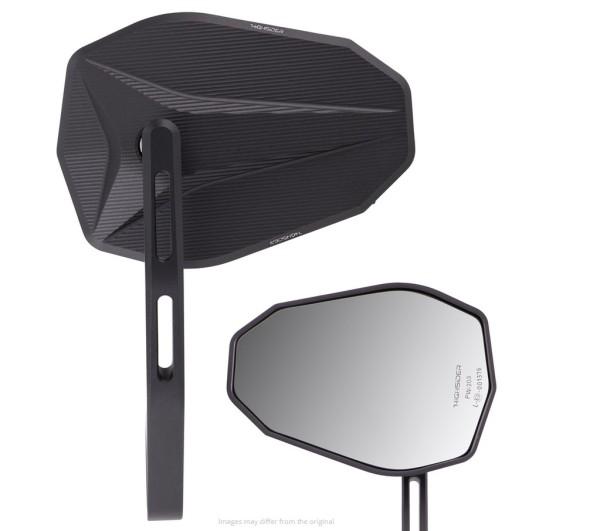 Espejo extremo manillar Highsider Victory-X, negro, para Vespa, izquierda o derecha