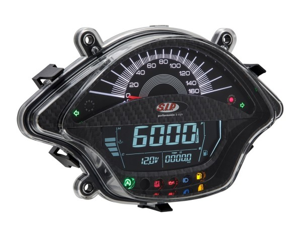 Medidor del número de revoluciones/Tacómetro para Vespa GTS/GTS Super 300ccm FL ('14-), carbón