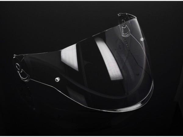 Visor Helmo Milano, FuoriRotta, transparente, resistente a los arañazos, largo