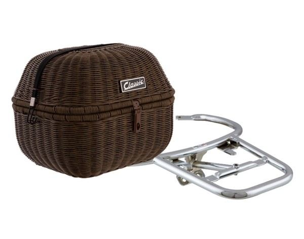 "Kit cesta de equipaje ""Classic"" para Vespa GTS/GTV/GT60 125-300ccm, marrón oscuro"