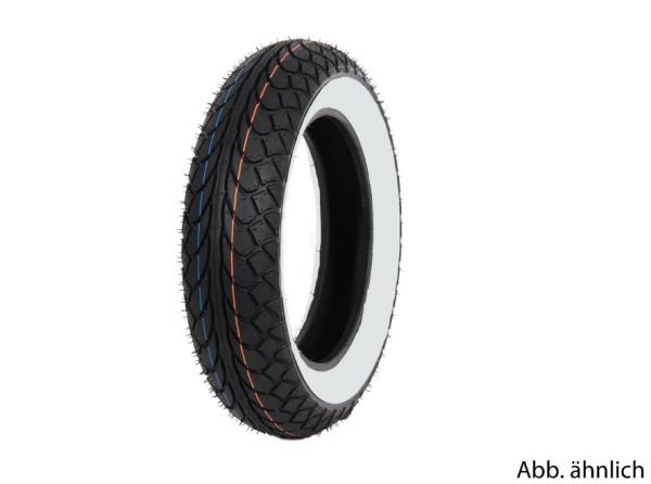 Neumático Mitas 120/70-10, 54L, TL, neumático de flanco blanco, MC22, trasero