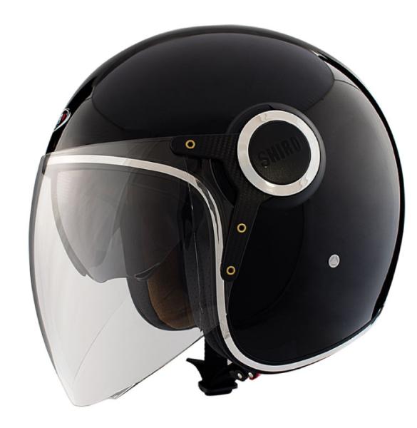 Shiro Casco Jet, SH235, Bullet, negro