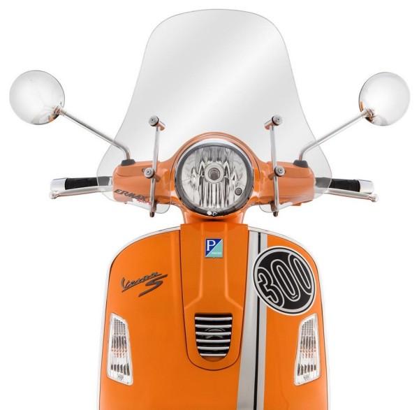 Miniparabrisas Sportivo para Vespa GTS/GTS Super/GT/GT L 125-300ccm, semialto, claro