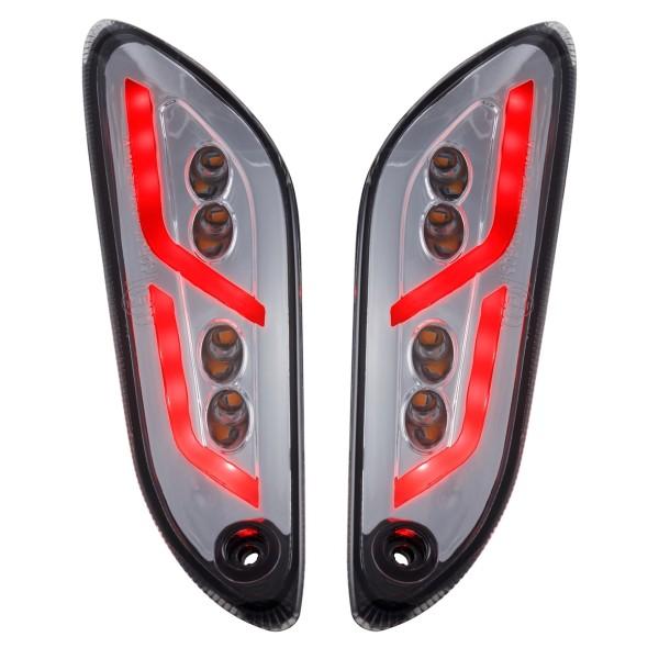 Kit de intermitentes LED trasero izquierdo / derecho tintado para Vespa Primavera / Sprint 50-150ccm SIP Style