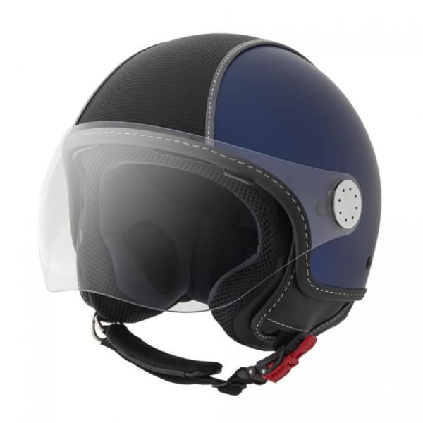 Piaggio casco Demi Jet, Carbonskin, azul
