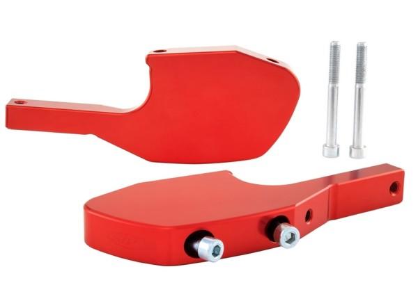 Adaptador reposapies acompañante para Vespa GTS/GTS Super/GTV/GT 60/GT/GT L 125-300ccm, rojo