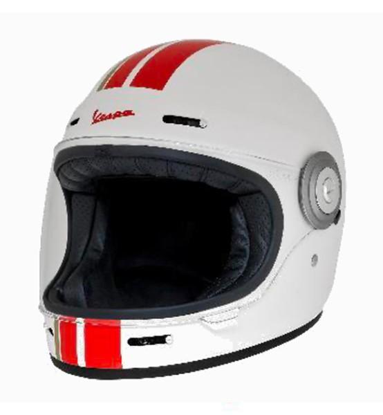 Casco integral Vespa Racing Sixties 60s rojo / blanco