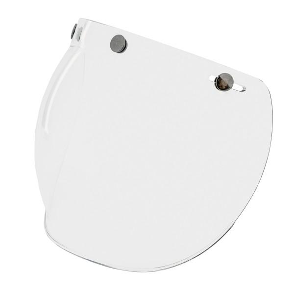 Visor de burbujas (transparente) con broches para cascos Vespa Jet