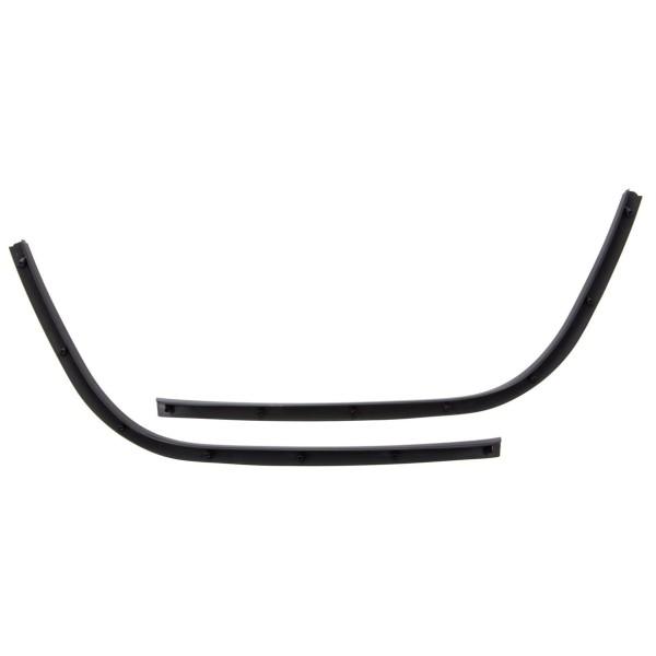 Estribo de tubo de una ranura negro brillante para Vespa Primavera / Sprint 50-150ccm