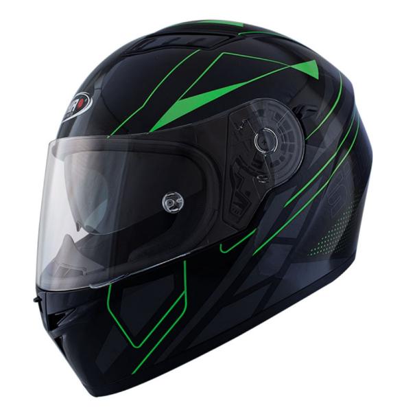 Shiro Casco Integral, SH600, Elite, negro mate/verde