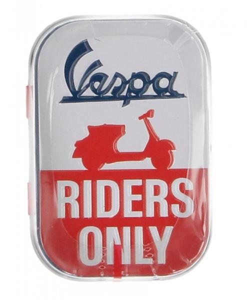 Vespa pastillero Vespa riders only, lata