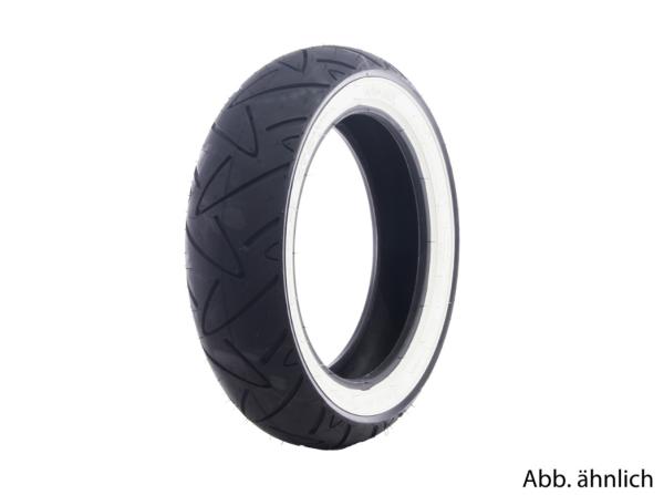 Neumático Continental 120/70-12, 58P, TL, neumático de flanco blanco, Twist, delantero/trasero