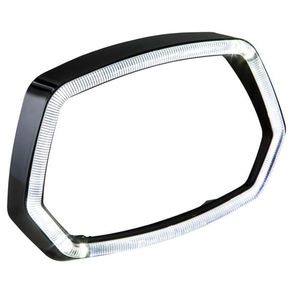 Anillo de lámpara anillo de luz LED negro brillante para Vespa Sprint 125 / 150ccm 4T ('13 -'18)
