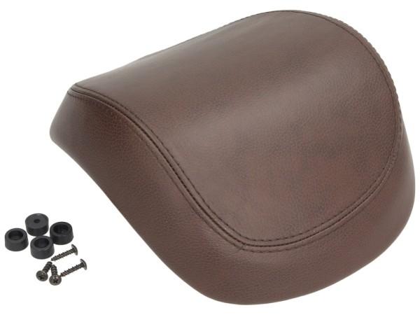 Original realmente cuero respaldo maleta para Vespa Primavera / Sprint / Elettrica - marrón