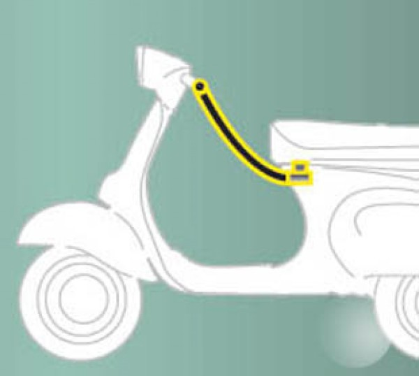 Dispositivo antirrobo (asiento - manillar) estándar para ZIP Original Piaggio