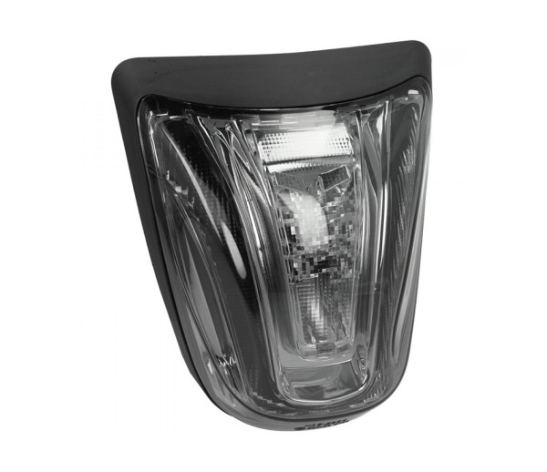 Luz trasera LED negra, homologada E para Vespa Primavera / Sprint