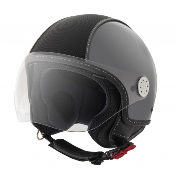 Piaggio casco Demi Jet, Carbonskin, gris