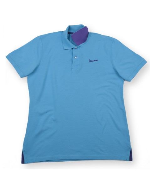 "Polo Vespa ""Vespa Logo"" hombre azul claro"