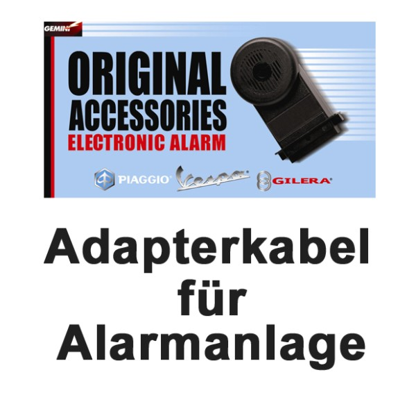 Original Cableado de alarma Piaggio Vespa E-1 y E-Lux