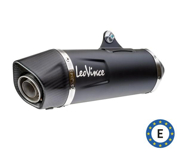 Sistema de escape LeoVince Nero, acero inoxidable, negro, sistema completo, para Vespa 300 GTS Euro 5