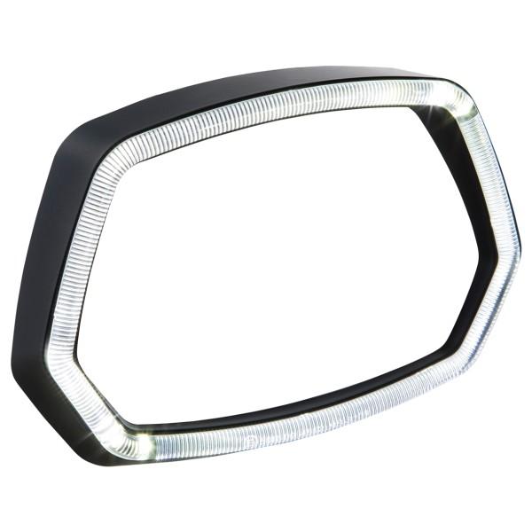 Aro de lámpara aro de luz LED negro mate para Vespa Sprint 125 / 150ccm 4T ('13 -'18)