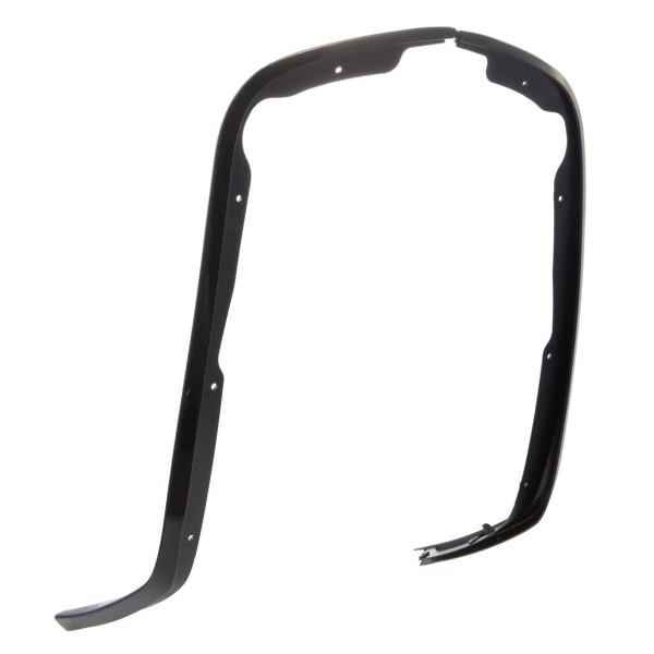 Protector de pierna de tubo de una ranura negro brillo para Vespa Primavera / Sprint 50-150ccm