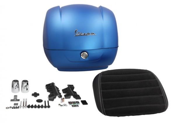 Estuche superior original para Vespa GTS Super Sport - azul mate / línea azul mate 297 / A, 36 l, My 19