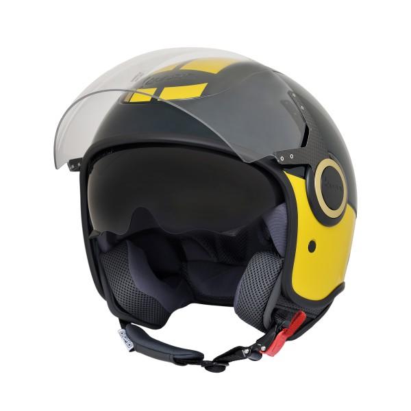 Vespa VJ Helmet blanco rojo