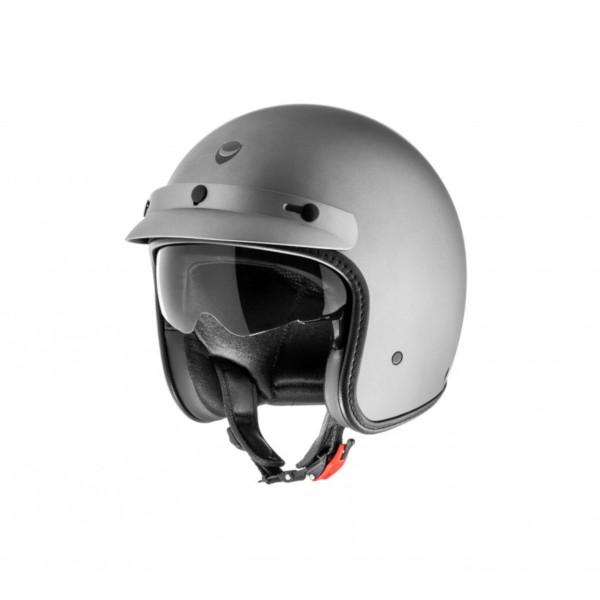 Helmo Milano casco abierto, Audace Monza, gris, mate
