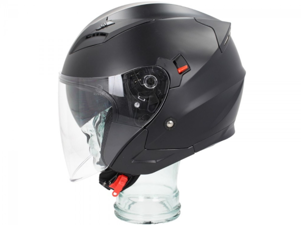 Shiro Casco Jet, SH450, negro mate