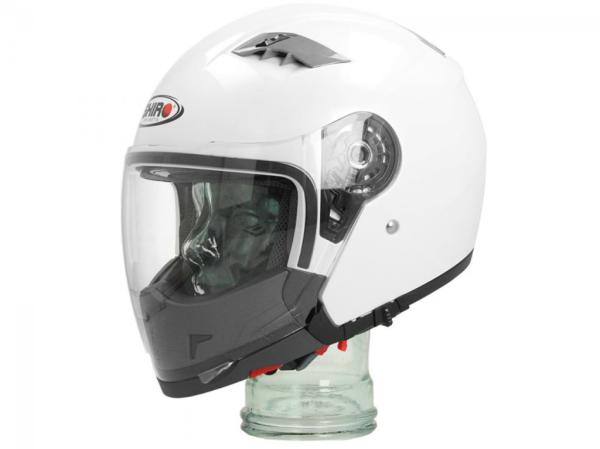 Shiro Casco Integral Convertibele, SH414, System, blanco