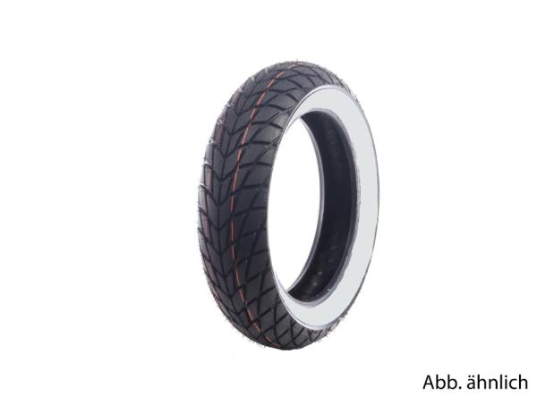 Neumático Mitas 120/70-11, 56L, TL, reforzado, neumático de flanco blanco, MC20, trasero