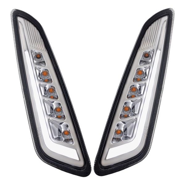 Kit de intermitentes LED delantero izquierdo / derecho tintado para Vespa Primavera / Sprint 125-150ccm SIP Style