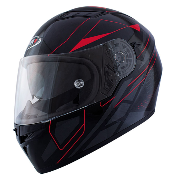 Shiro Casco Integral, SH600, Elite, negro mate/rojo