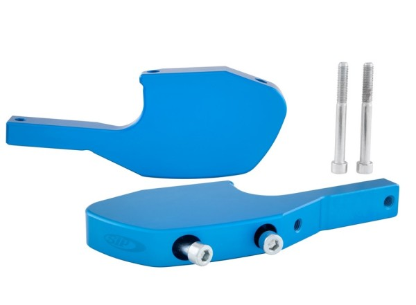 Adaptador reposapies acompañante para Vespa GTS/GTS Super/GTV/GT 60/GT/GT L 125-300ccm, azul mate