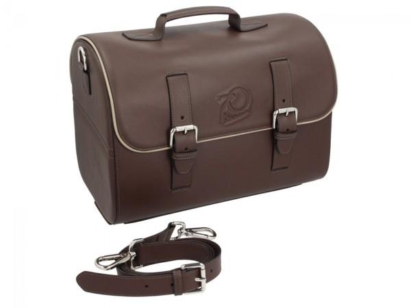 Original Vespa bolso de cuero - marron
