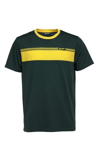 Camiseta Vespa Racing Sixties 60s verde / amarillo