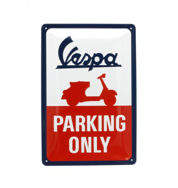Vespa placa metálica Vespa parking only