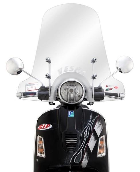 Miniparabrisas alto para Vespa GTS/GTS Super/GT/GT L 125-300ccm, claro