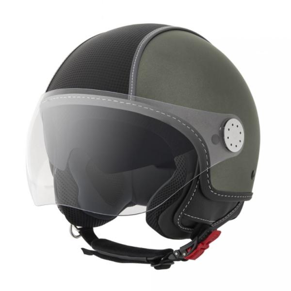 Piaggio casco Demi Jet, Carbonskin, militar verde, mate